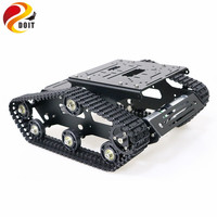 YP100 Metal Tracked Robot Tank Chassis with Aluminum Alloy Frame Robotic Arm Interface Holes for Robot Project Graduation Design