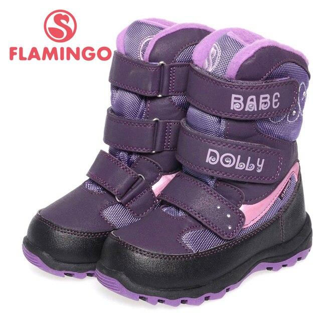 Фламинго высокое качество мода зимой детская обувь для девочки 2015 новая коллекция анти-слип сапоги с натуральной шерсти DC4518