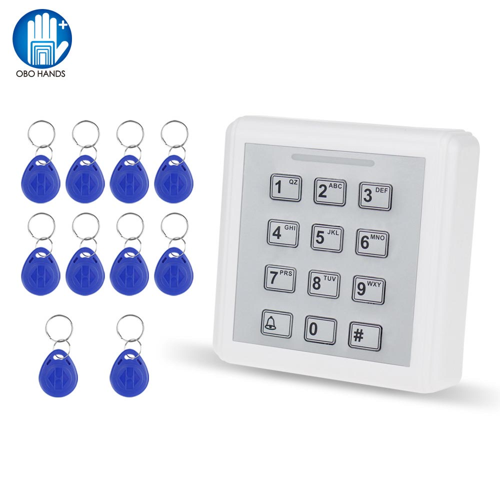 1000 User Mini Plastic Access Controller with keyboad+10pcs Contactless RFID 125khz ABS Keychain Key fobs кальсоны user кальсоны