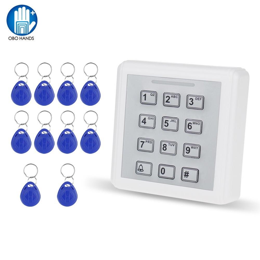 1000 User Mini Plastica Access Controller con keyboad + 10 pz Contactless RFID 125 khz ABS Portachiavi portachiavi
