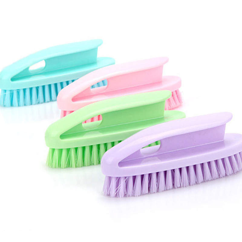 DoreenBeads Plastic Shoe Clothes Wash Basin Brush Soft Bathroom Kitchen Appliance Cleaning Tool Random Color 15*5cm 1PC