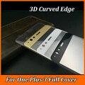 9 H 3D Borde Curvo Cubierta Completa de vidrio Templado Para Una Más 3 oneplus 3 tres 9 h protector de pantalla de cine de protección de vidrio templado