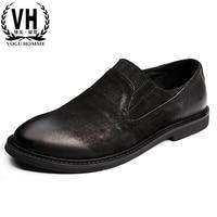 2017 versione coreana della marea tipo scarpe da uomo personalizzate, retro old Bullock, business casual scarpe in pelle piccolo sporco