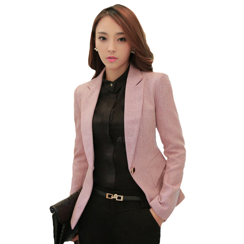 New Arrival Women Blazers and Jackets 2017 Spring Summer Fashion Blazer Femenino Gray Ladies Blazer Female Business Suits L611