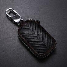 Genuine Leather Car Key Case Carteras para Nissan x-trail Micra Note NV200 Rogue 307Z Sunny Almera Altima GT-R cubo