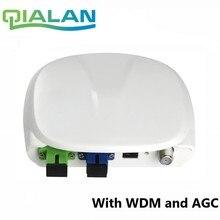 Fibra Óptica FTTH receptor óptico SC/APC SC/UPC com WDM e AGC Nó Mini Receptor Óptico Interior com caixa de plástico branco