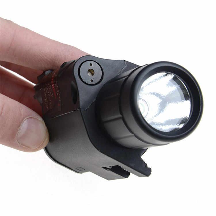 אקדח אדום לייזר קומבו ציד Sight היקף 650nm טקטי LED פנס מתג כפתור עבור רובה אקדח אקדח Airsoft Shot # JGSD