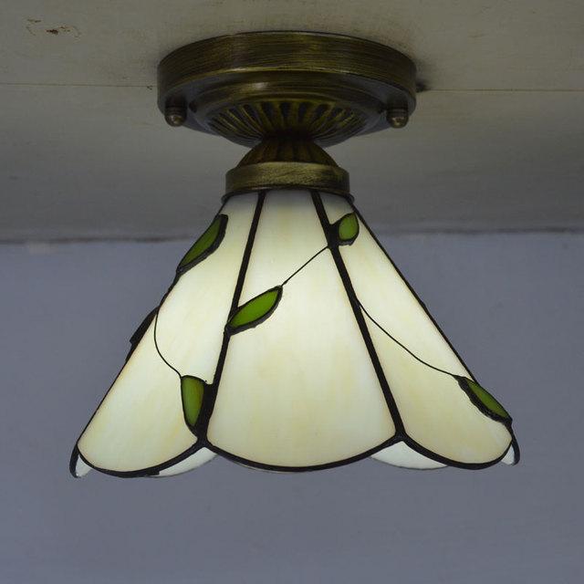 Luce di Soffitto di Tiffany Stained Glass Paralume Fresco Stile Country Illuminazione Camera Da Letto E27 110 240 V