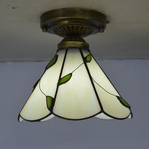 Image 1 - Tiffany Ceiling Light Stained Glass Lampshade Fresh Country Style Bedroom Lighting E27 110 240V