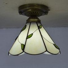 โคมไฟเพดาน Tiffany Stained Glass โคมไฟ Fresh Country Style ห้องนอน E27 110 240 V