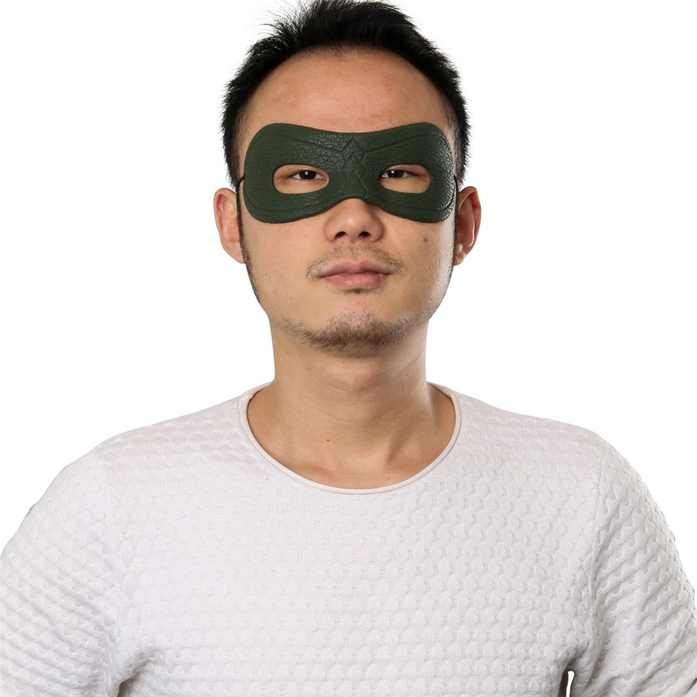 Takerlama New Green Arrow Oliver Queen Mask Cosplay Costume Artificial Leather Blinder Mask Halloween Eye Patch