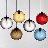 Nordic Design Tom dixon Pendant Lamp Restaurant Bar Shop glass bubble chandelier Vintage Loft House Decor stained glass lamp