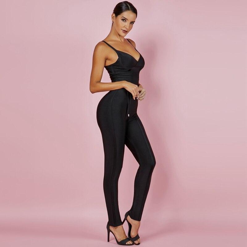 Ocstrade Rayon Bandage Jumpsuit 2019 New Bodycon Bandage Jumpsuit Summer Sexy Waist Cinching Sleeveless Black Bandage Jumpsuit