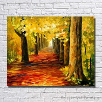 New Design Gold Colorful Landscape Oil Painting Abstract Art Cheap Modern Canvas Art Wholesale