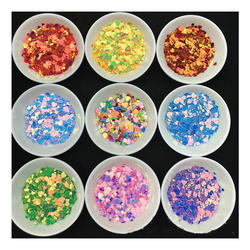 New Mixed Size Heart Decor Glitter Sequins Nail Art Jewelry Findings Pendant Accessories DIY Charms Handmade Paillette Stuff