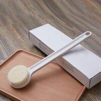 34*8 см Нейлоновая Щетка для тела натуральная щетина спа щетка для ванны душа с длинной ручкой для использования в ванной комнате массажные щ