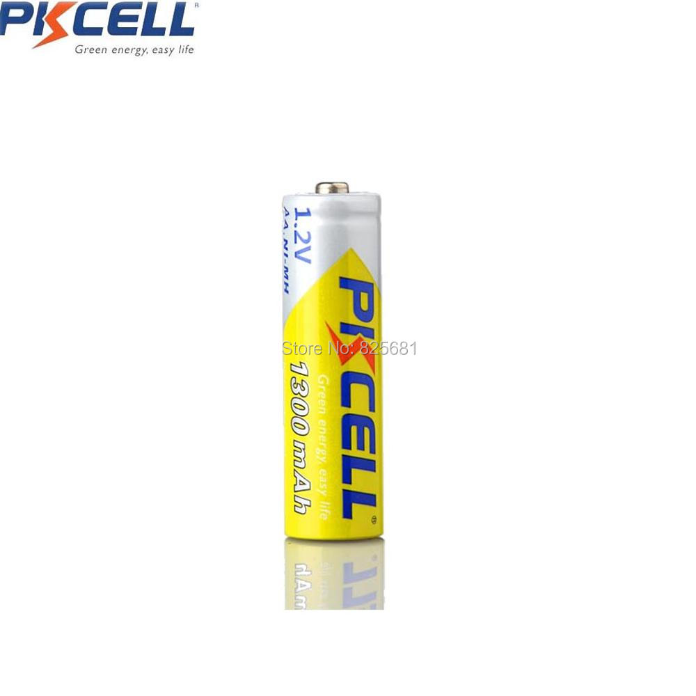 8Pcs PKCELL Batteries 1300mAh AA NiMH 1.2V Rechargeable Battery For Camera Toys Player