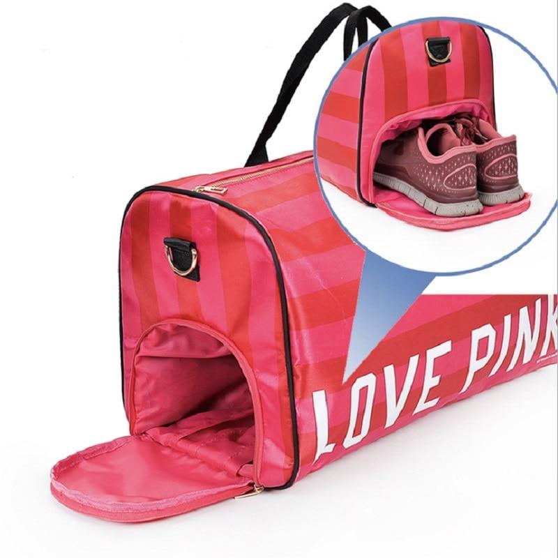 Для женщин Фитнес тренажерный зал Сумки обувь сумка для хранения для спортзала спортивных чемодан Открытый прочный сумки на плечо для спор...