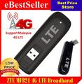 Desbloqueado zte mf821 4g 3g 2g lte dongle usb stick usb modem de banda larga móvel