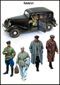 Resin Kits  1/ 35  WWII Russian  soldiers inlcude 5 man not have car  figure  Resin Not color Model figure DIY TOYS new WWII WW2