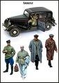 Resina Kits 1/35 SEGUNDA GUERRA MUNDIAL de Rusia soldados inlcude 5 hombre no tiene coche No figura de Resina de color figura Modelo JUGUETES DIY nueva WWII WW2