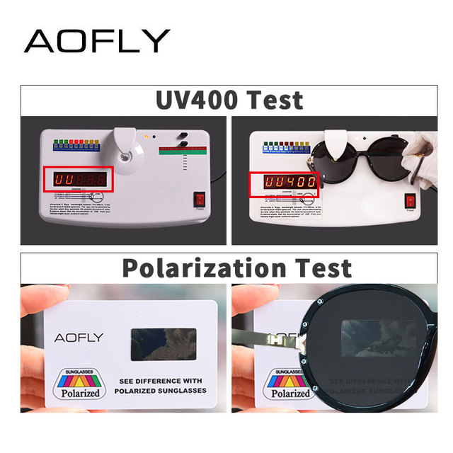 AOFLY BRAND DESIGN Vintage Oversized Sunglasses Women Metal Legs Polarized Sunglasses Round Lens Eyewear A126 4