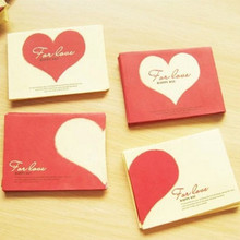 100pcs/set  Love small colored Pearl blank mini paper envelopes wedding invitation envelope /100*75mm gilt envelope/4 color