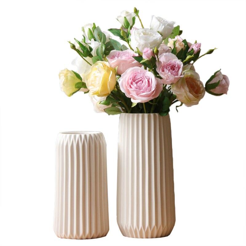 1pc Modern Paper Folding Design Vase White Matt Porcelain Flower ...