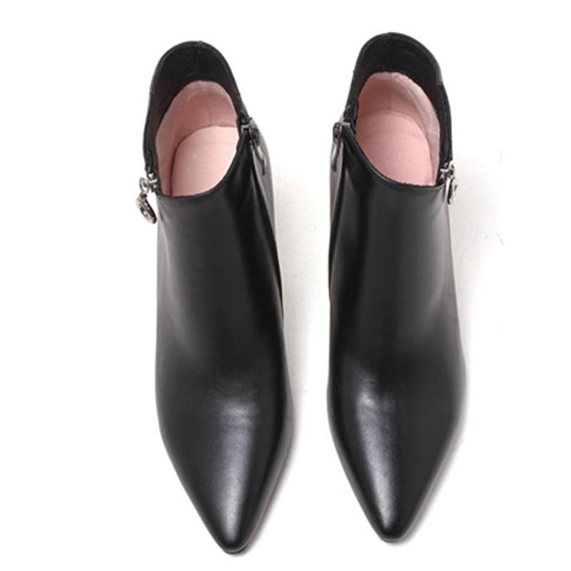 Talons Fur Grande Not Black With Hiver En Bureau Style Dame Masgulahe black Femmes Véritable Cheville Chaussures deep Bottes Glissière Fur Apricot Fur Hauts Cuir Reine Taille Latérale wYH6qF