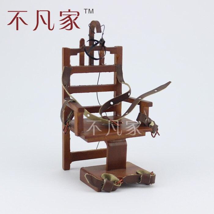 Maison de poupée Miniature Meubles Cruelles tortures chaise Électrique 1/12 Échelle