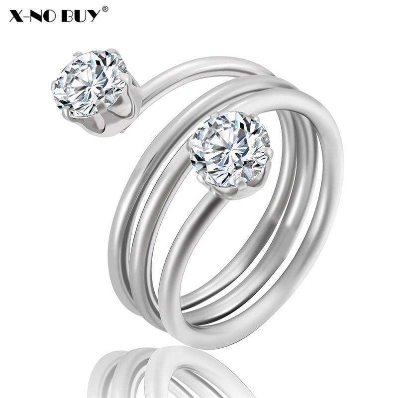 Analytisch Neue Romantische Geometrische Edelstahl Hochzeit Ring Für Frauen Schmuck Cz Zirkon Finger Ringe Party Engagement Ring Für Weibliche