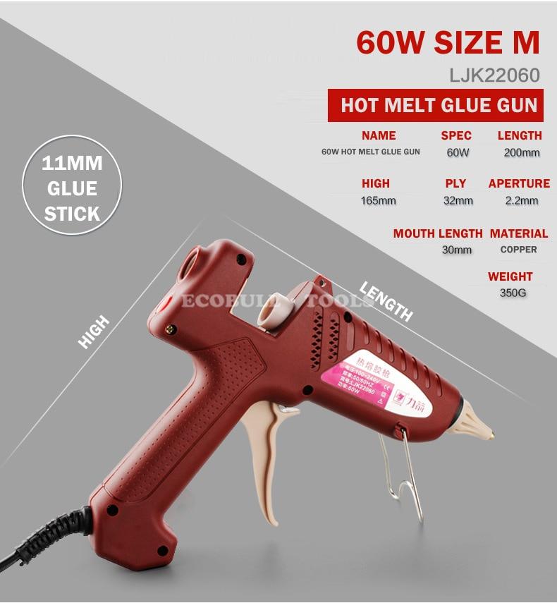 LIJIAN 20 W / 60 W / 100 W Hotmelt Lijmpistool US / EU Plug - Elektrisch gereedschap - Foto 2