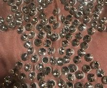 Sparkly Crystals Big Stretch Dress Women's Evening Party Wear Full Rhinestones Tassel Dress Prom Birthday Celebrate Outfit