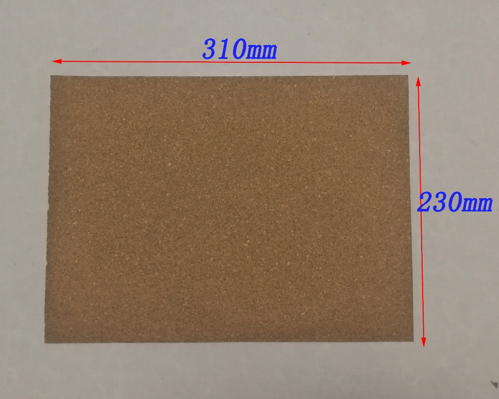 (2 Pieces/Lot) 230mm*310mm Saxophone Flute Clarinet Adhesive Rubber Cork Sheet 1.0mm