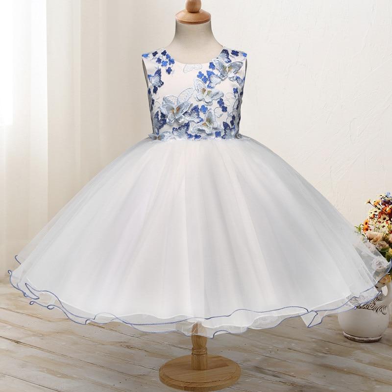 summer girl princess butterfly dress sleeveless knee length girl wedding party dress kids birthday cute clothes dress lava бобер музыкальный 19 см