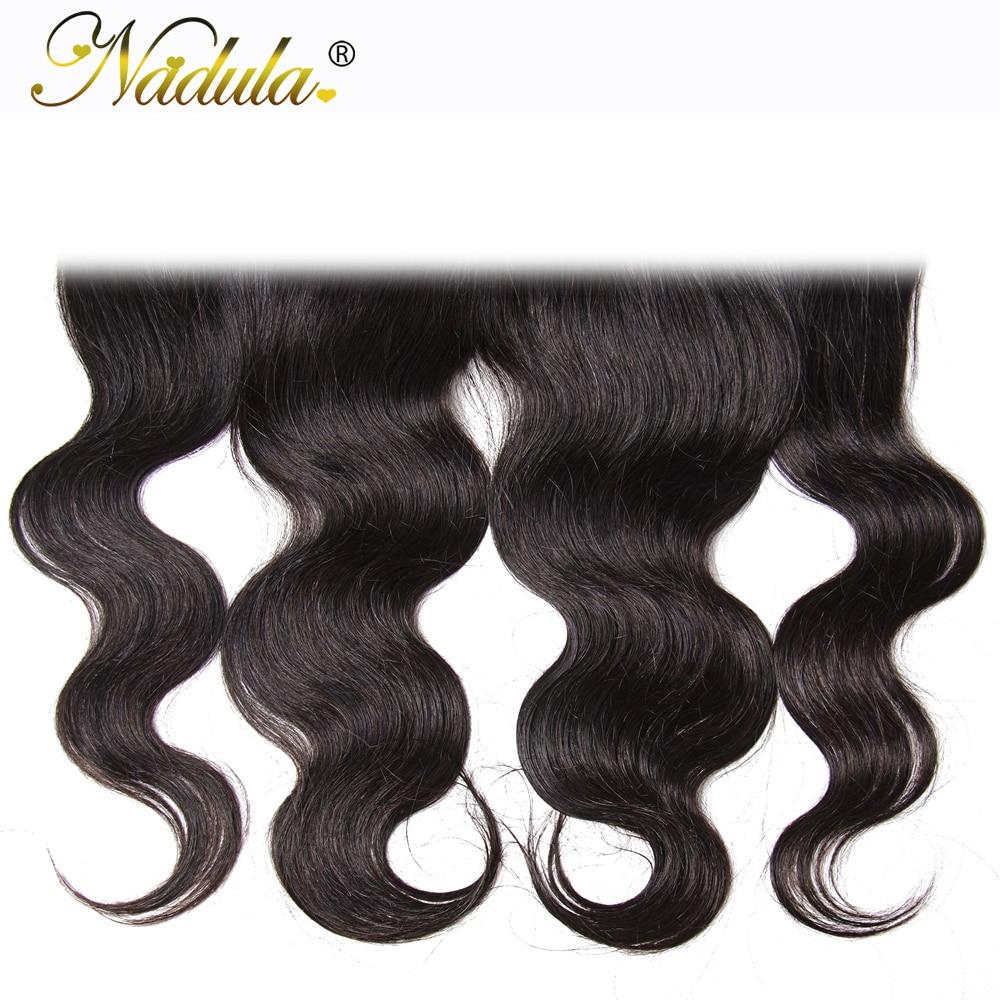 Nadula Hair  Body Wave Lace Frontal 13*4 Swice Lace 10-20inch  Hair 100%   Ship Free 6