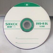 Sprzedaż hurtowa 10 płyt 8.5 GB klasy A puste drukowane D9 płyty DVD + R DL
