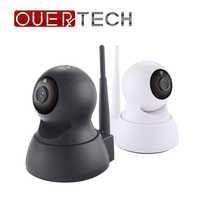 OUERTECH weitwinkel ansicht Zwei weg audio nachtsicht 720P WIFI Smart IP Kamera unterstützung remote access 64g baby monitor