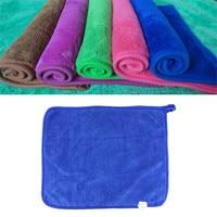 2017 Hot Sale Plush Microfiber Buffing Dusting Towels Car Cleaning Cloth W Black Silk Edge June30A