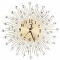 Современные художественные большие настенные часы с металлическим кристаллом Sunburst  прозрачные  со стразами  бесшумные настенные часы  дома...