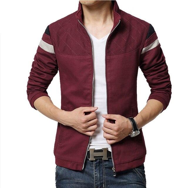 Новая Мода Мужские Куртки Мужчины Зимняя Верхняя Одежда Колледжа Спортивной Мужчины Молния Куртки Тонкий Теплый Пальто Плюс Размер 5XL Пальто Hombre