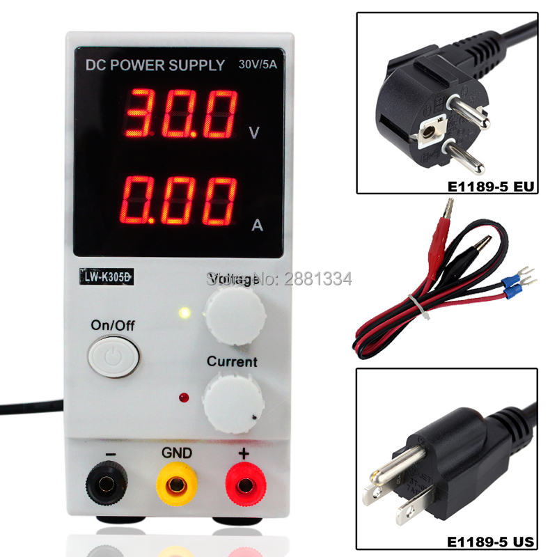 2018 Hot sale LW-K305D (110V/220V ) 0-30V 0-5A Adjustable Mini Switching DC Power Supply Voltage Regulators free shipping original lw mini adjustable digital dc power supply 0 30v 0 10a 110v 220v switching power supply 0 01v 0 01a 34 pcs dc jack