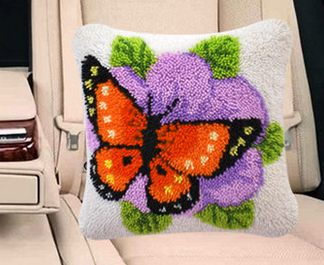 020899 Pillow paragraphs embroidered pillows have been cut, coarse wire crochet hook embroidery household spending