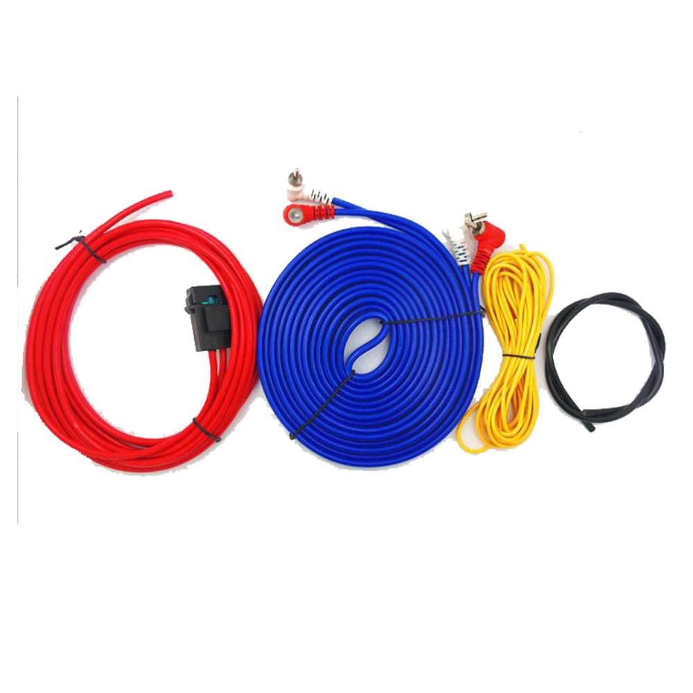 Hot Sale Speaker Installation Wires Cables Kit Car Audio Wire Wiring Kits Amplifier Subwoofer 60w 4m Length Professional