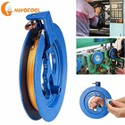 18cm Kite Reel Winder Fire Wheel 200M String Flying Handle Tool Twisted String Line Outdoor Round Blue Grip for Kite Accessories