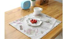 Pastoral Linen Cotton Placemat Fabric Dining Table Mats Rugs Table Pad Coaster Flower Table Decoration Kitchen wares