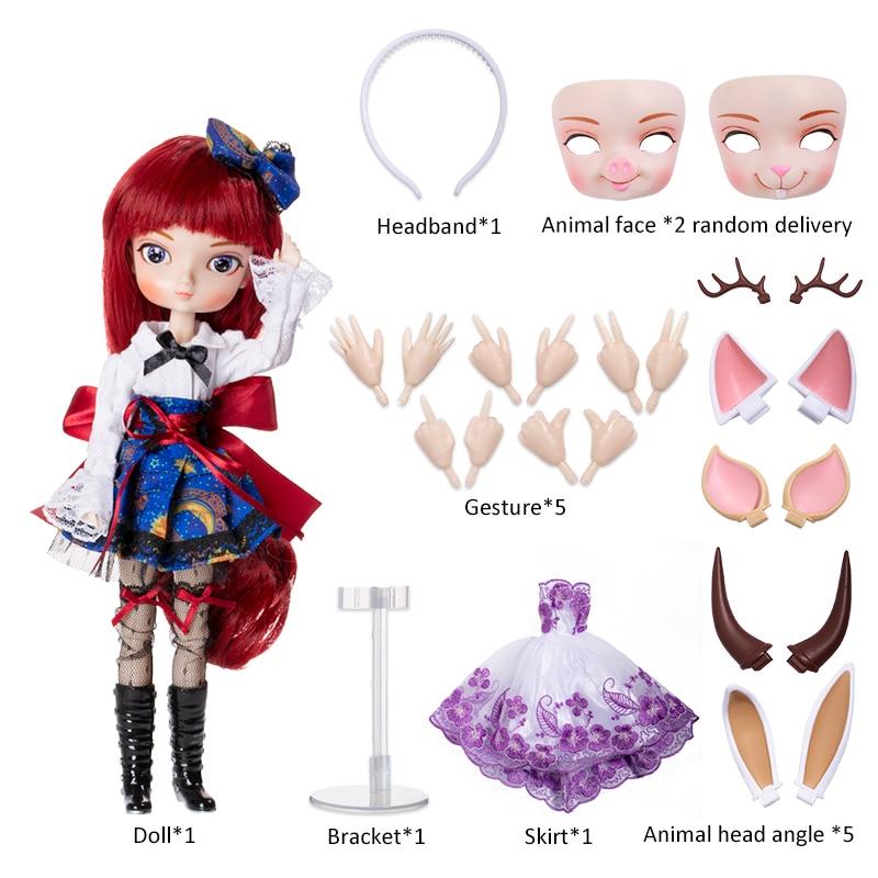 كبير فتاة ذات عيون الدمى BBGirl 2.0 جديد وصول ، بيع مع animial وجوه والمزيد من الملحقات-في الدمى من الألعاب والهوايات على  مجموعة 2