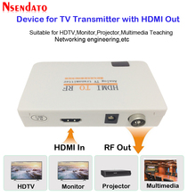Analog TV Transmitter HDMI To RF HDMI To Radio Frequency Signal HD Modulator Box Converter with Remome control zoom for HDTV PC