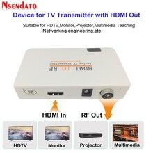 التناظرية جهاز إرسال تليفزيوني HDMI إلى RF HDMI إلى راديو تردد إشارة HD المغير محول صندوق مع التحكم ريمومي التكبير ل HDTV PC