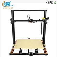 CREALITY 3D Büyük Baskı Boyutu Metal CR-10/CR-10S Kasnak Sürüm 3D Yazıcı DIY Kit Alüminyum Isıtmalı Yatak + Borosilikat cam Plaka